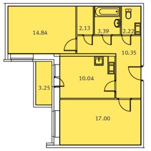 Общая площадь жилого помещения Частное бти.